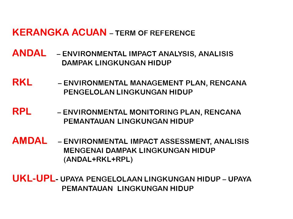 KERANGKA ACUAN – TERM OF REFERENCE