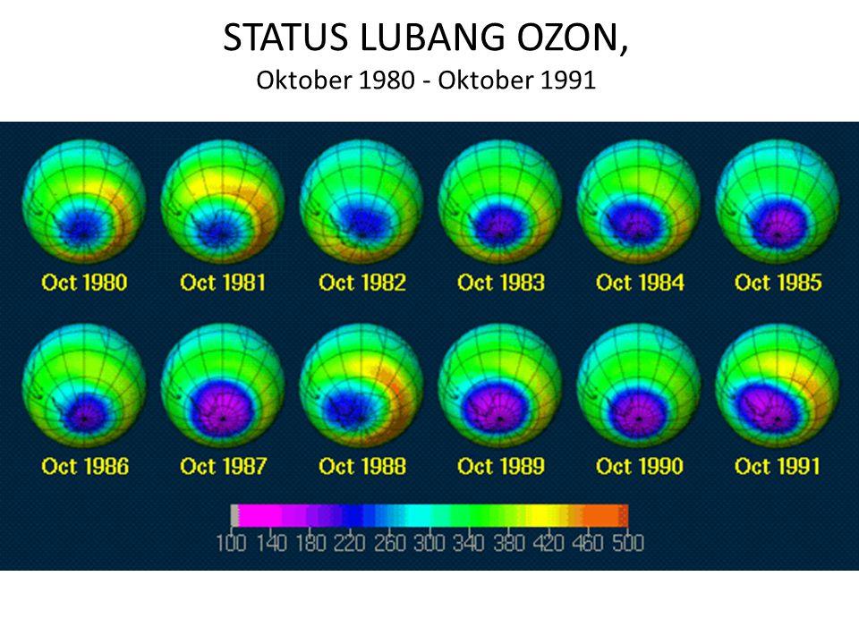 STATUS LUBANG OZON, Oktober 1980 - Oktober 1991