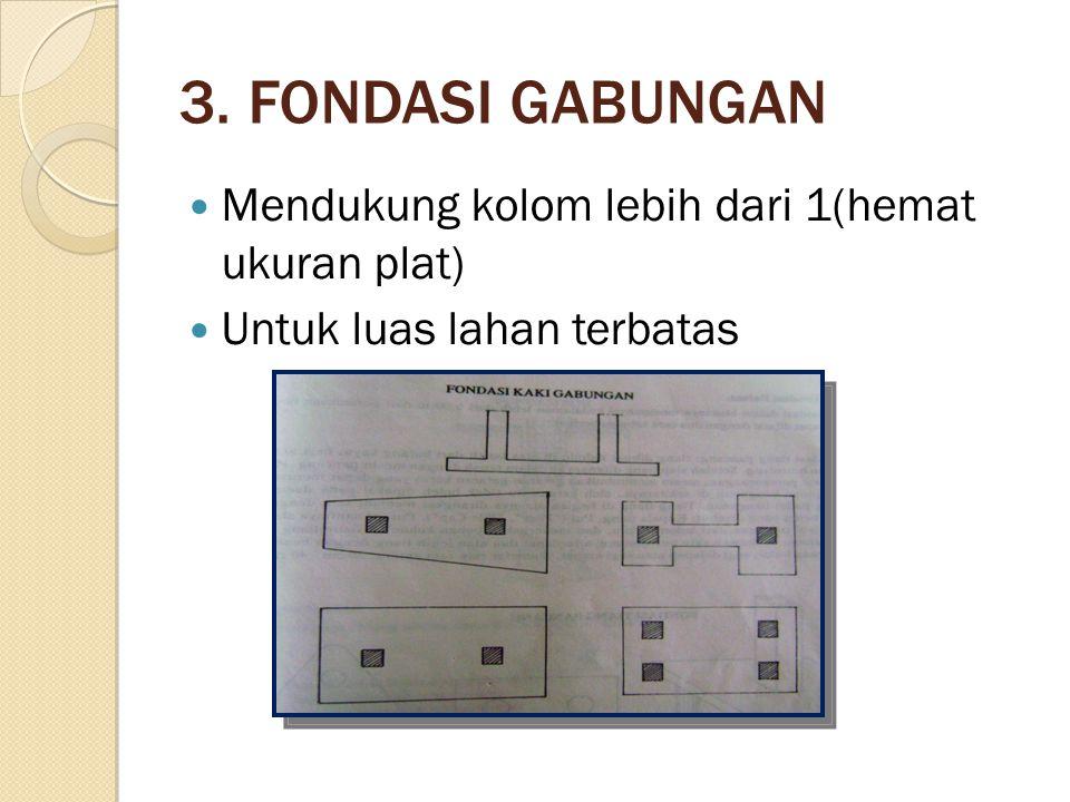 3. FONDASI GABUNGAN Mendukung kolom lebih dari 1(hemat ukuran plat)