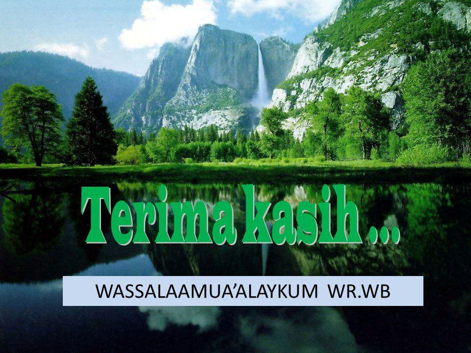 WASSALAAMUA'ALAYKUM WR.WB