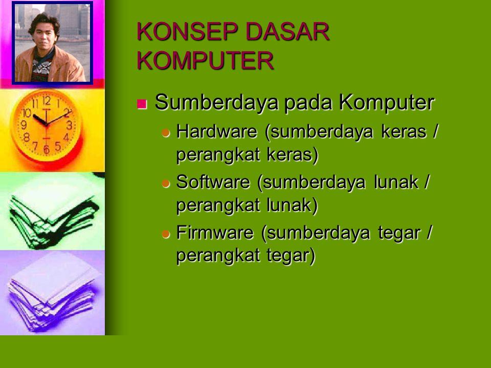 KONSEP DASAR KOMPUTER Sumberdaya pada Komputer