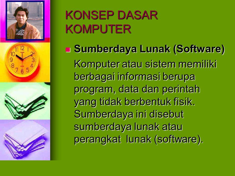 KONSEP DASAR KOMPUTER Sumberdaya Lunak (Software)