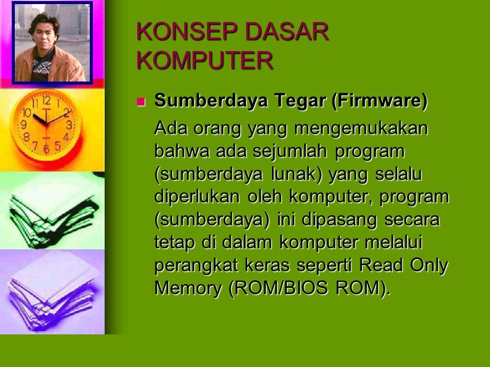 KONSEP DASAR KOMPUTER Sumberdaya Tegar (Firmware)