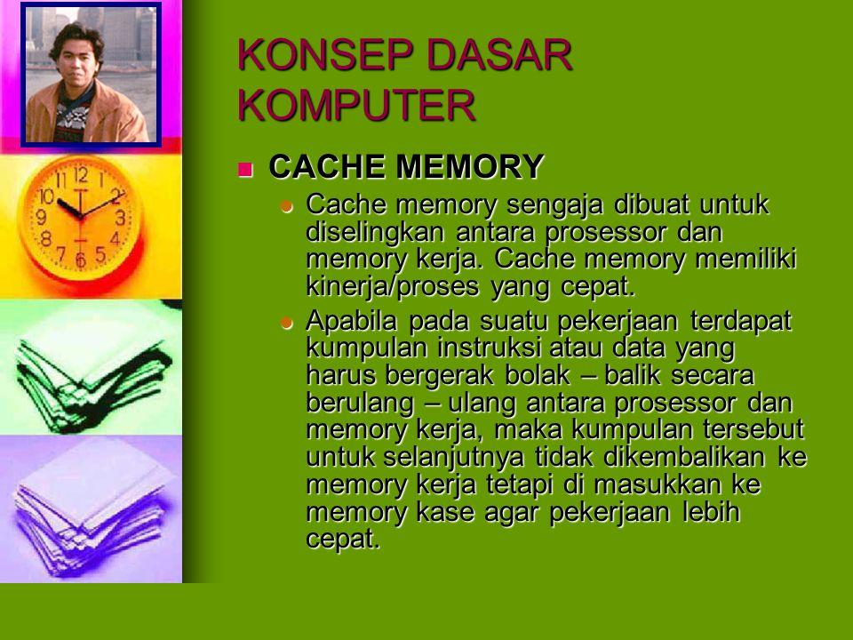 KONSEP DASAR KOMPUTER CACHE MEMORY
