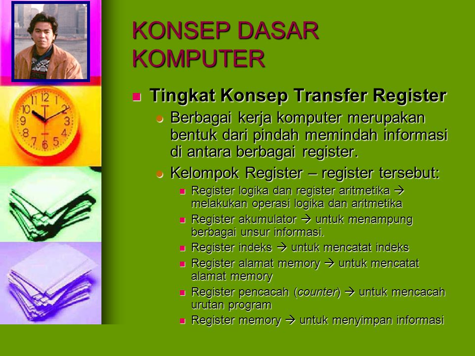 KONSEP DASAR KOMPUTER Tingkat Konsep Transfer Register