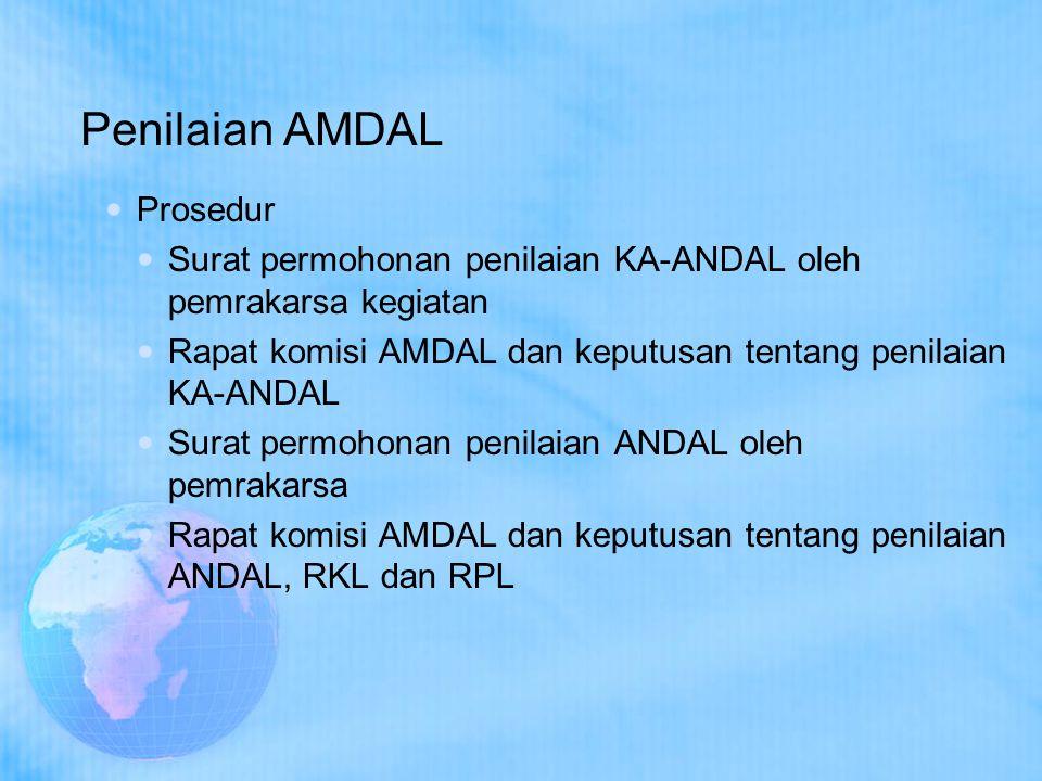 Penilaian AMDAL Prosedur
