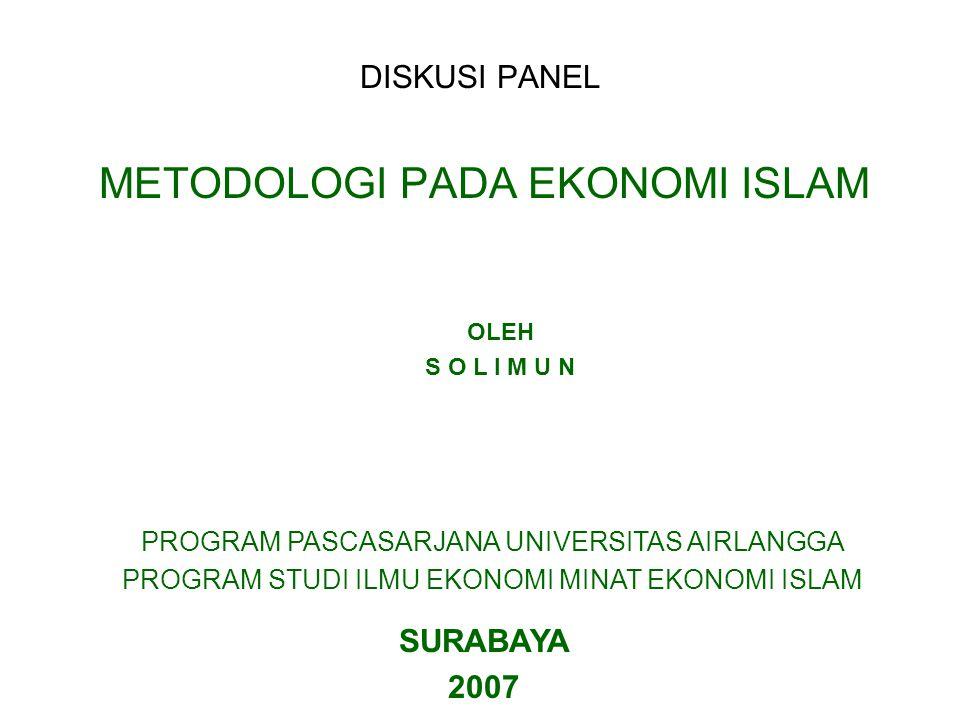 METODOLOGI PADA EKONOMI ISLAM