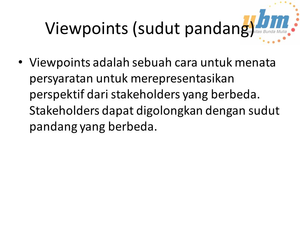 Viewpoints (sudut pandang)