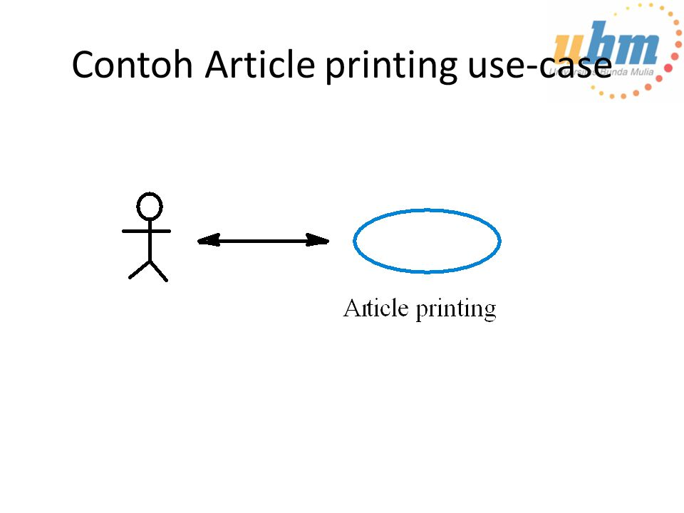 Contoh Article printing use-case