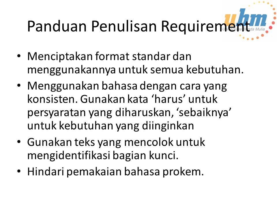 Panduan Penulisan Requirement