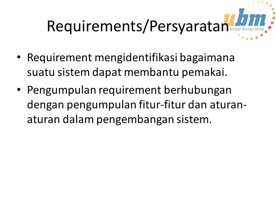 Requirements/Persyaratan