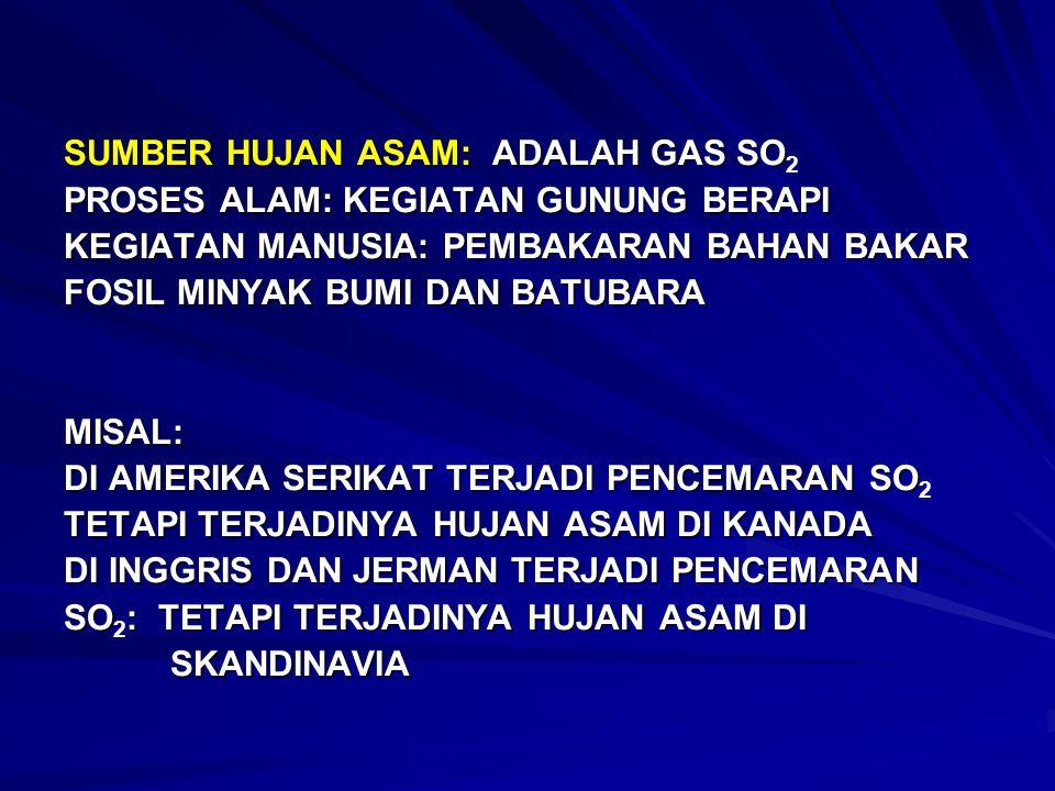 SUMBER HUJAN ASAM: ADALAH GAS SO2