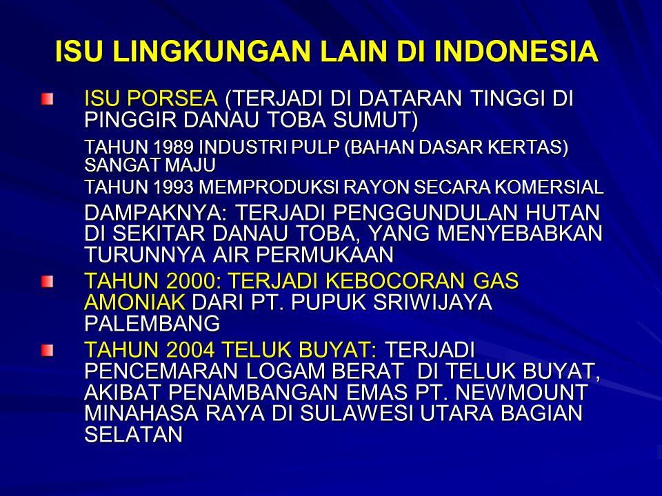 ISU LINGKUNGAN LAIN DI INDONESIA