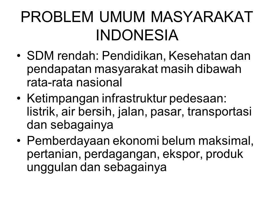 PROBLEM UMUM MASYARAKAT INDONESIA