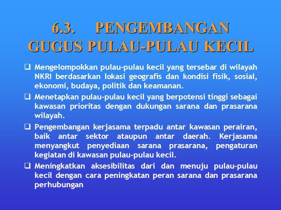 6.3. PENGEMBANGAN GUGUS PULAU-PULAU KECIL