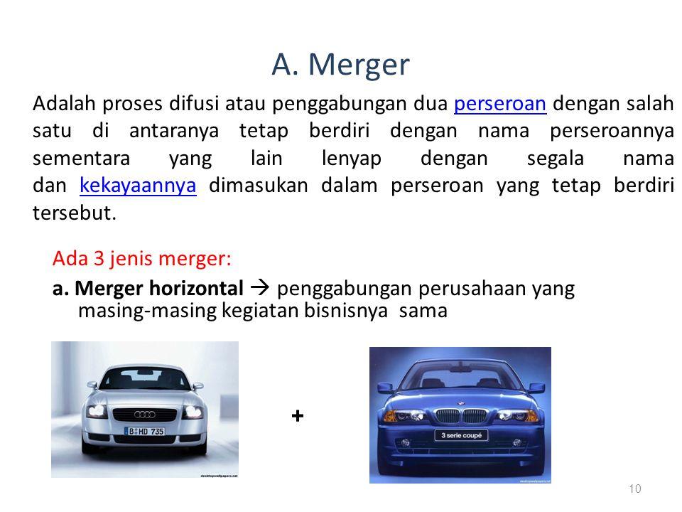 A. Merger