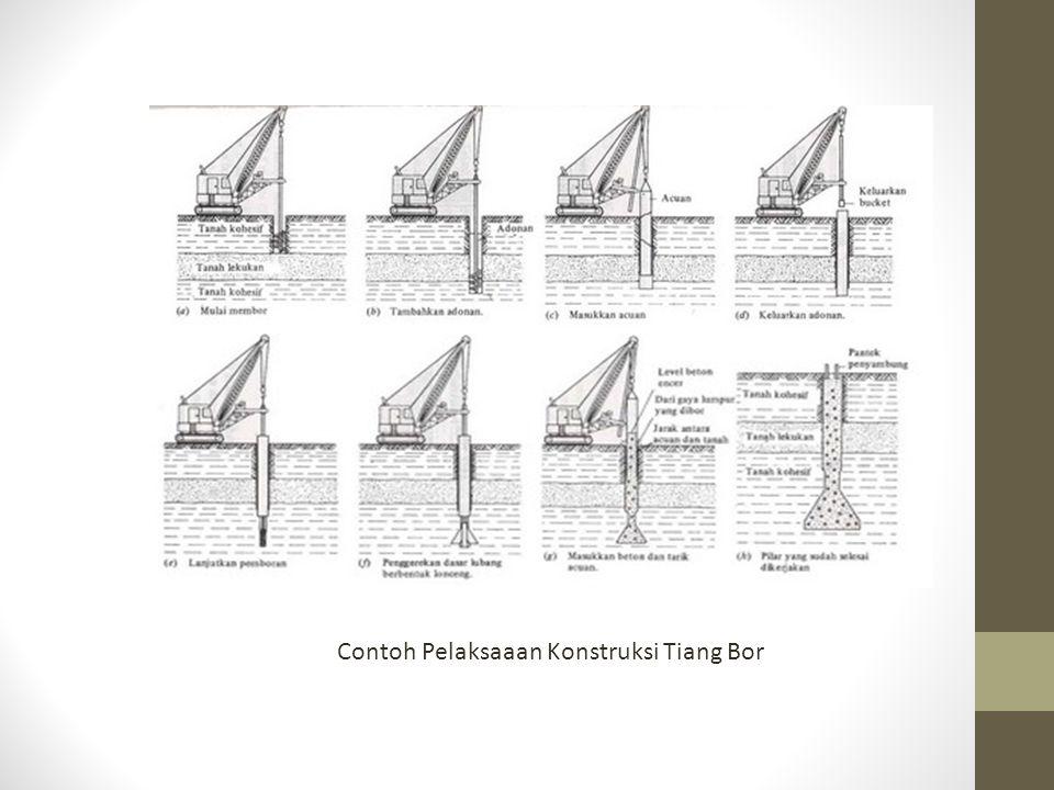 Contoh Pelaksaaan Konstruksi Tiang Bor