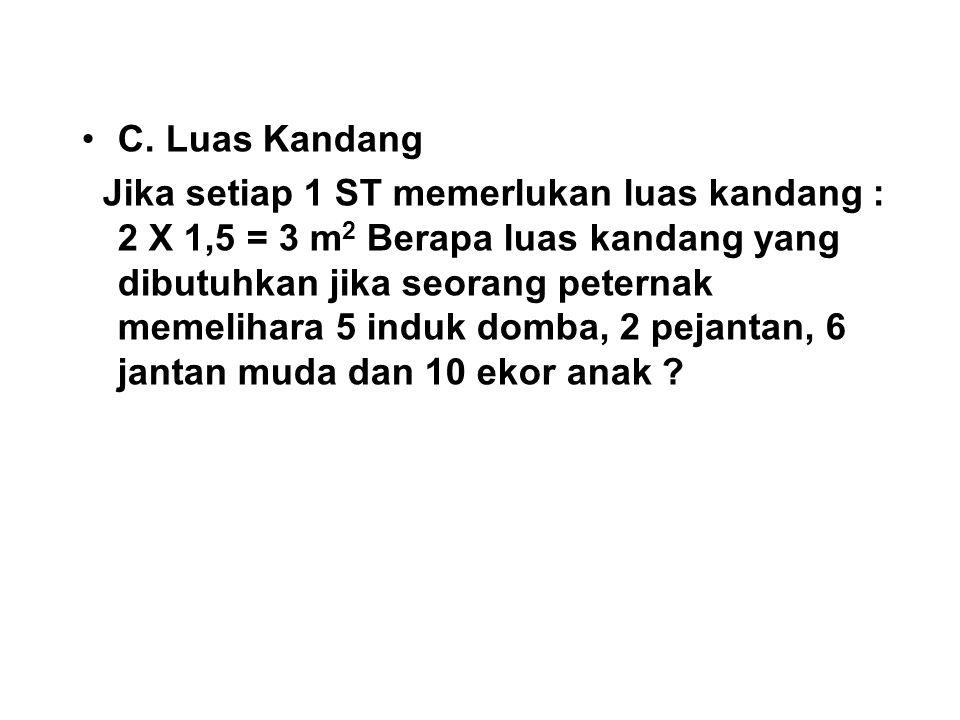 C. Luas Kandang