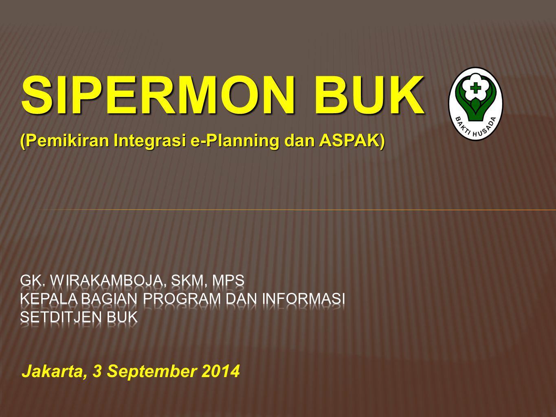 SIPERMON BUK (Pemikiran Integrasi e-Planning dan ASPAK)
