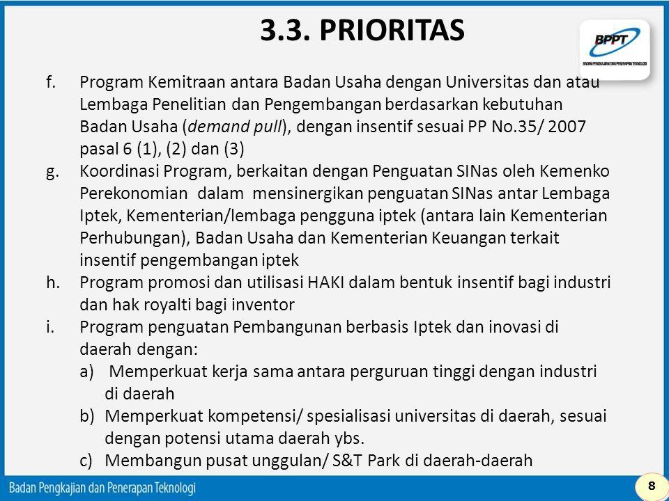3.3. PRIORITAS