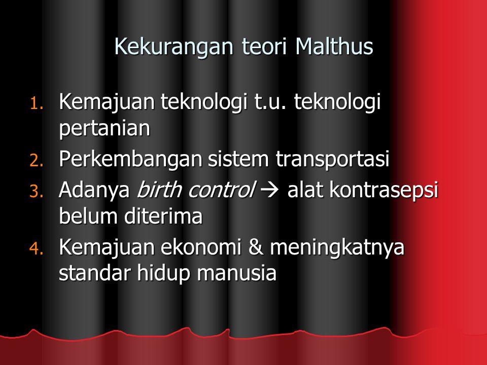 Kekurangan teori Malthus