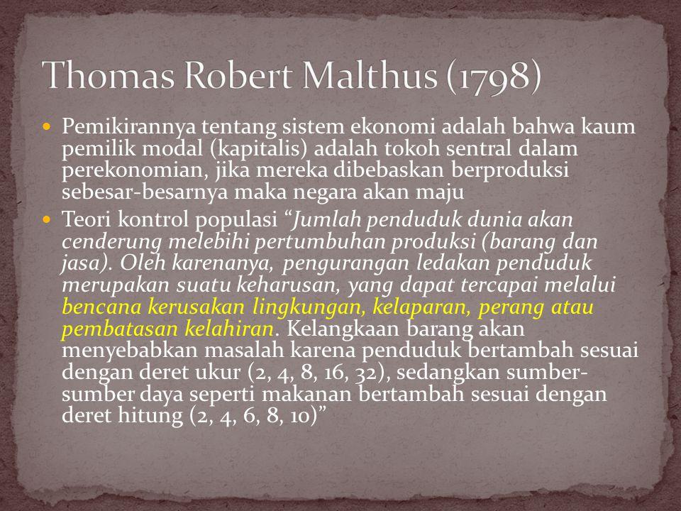 Thomas Robert Malthus (1798)