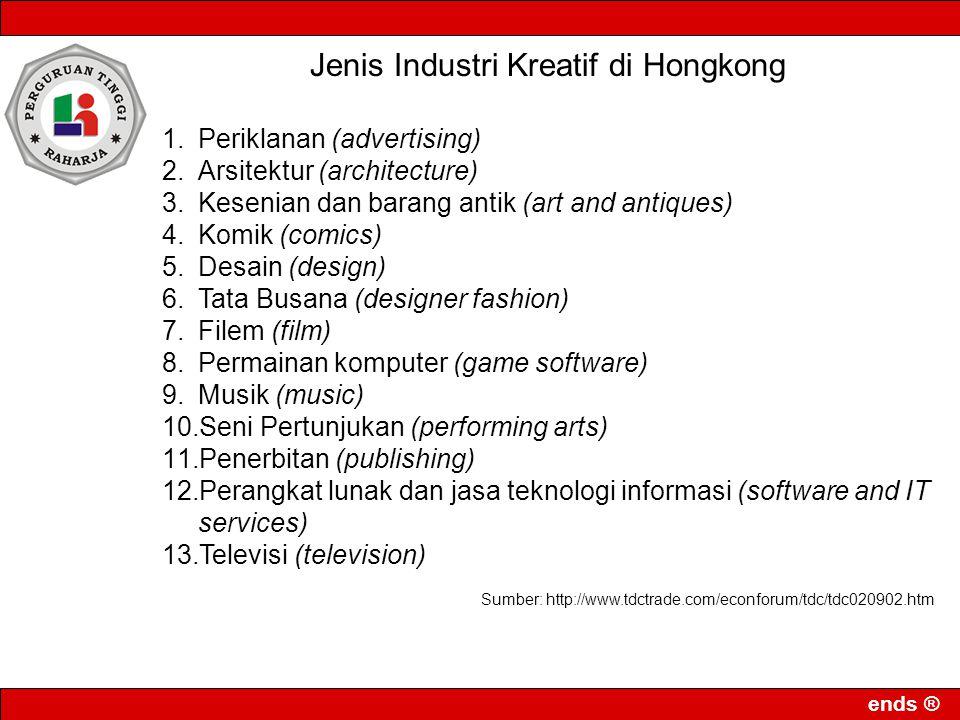 Jenis Industri Kreatif di Hongkong