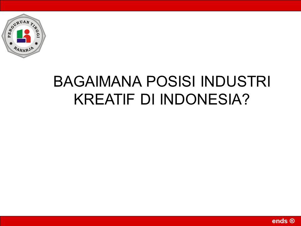 BAGAIMANA POSISI INDUSTRI KREATIF DI INDONESIA