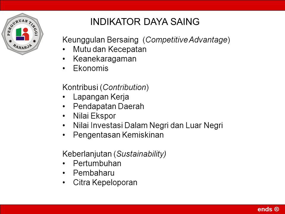 INDIKATOR DAYA SAING Keunggulan Bersaing (Competitive Advantage)