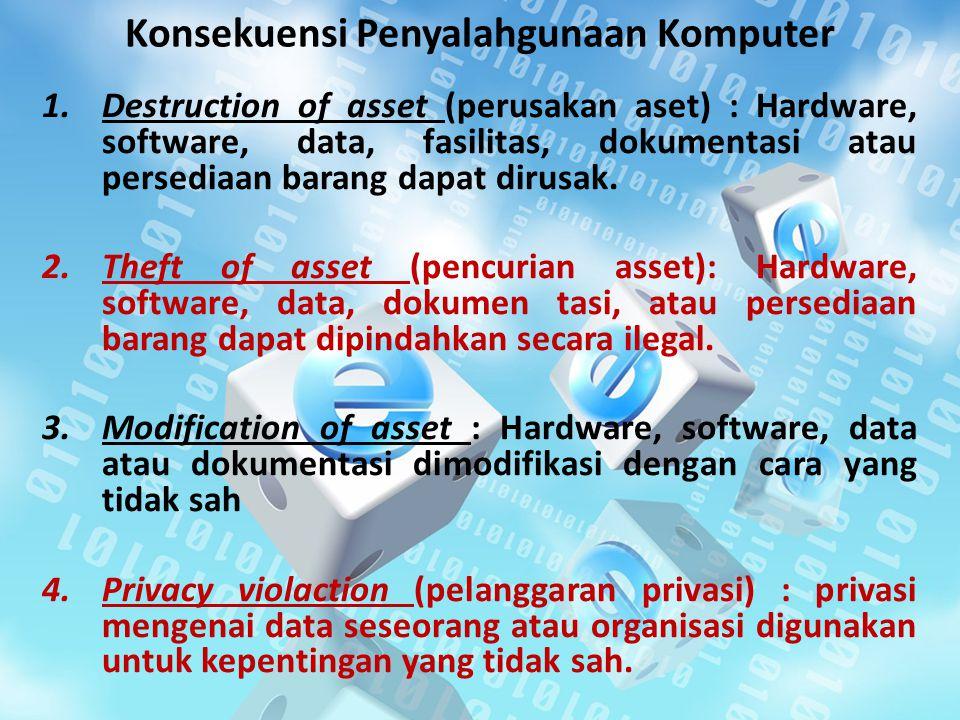 Konsekuensi Penyalahgunaan Komputer