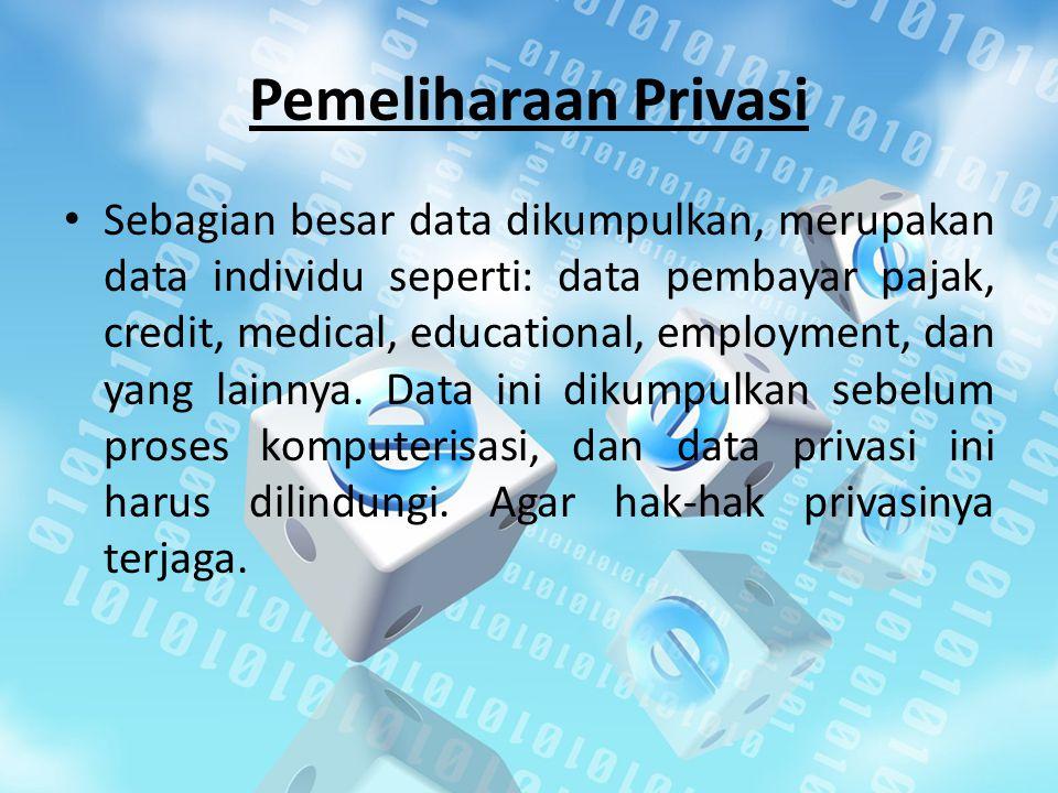Pemeliharaan Privasi