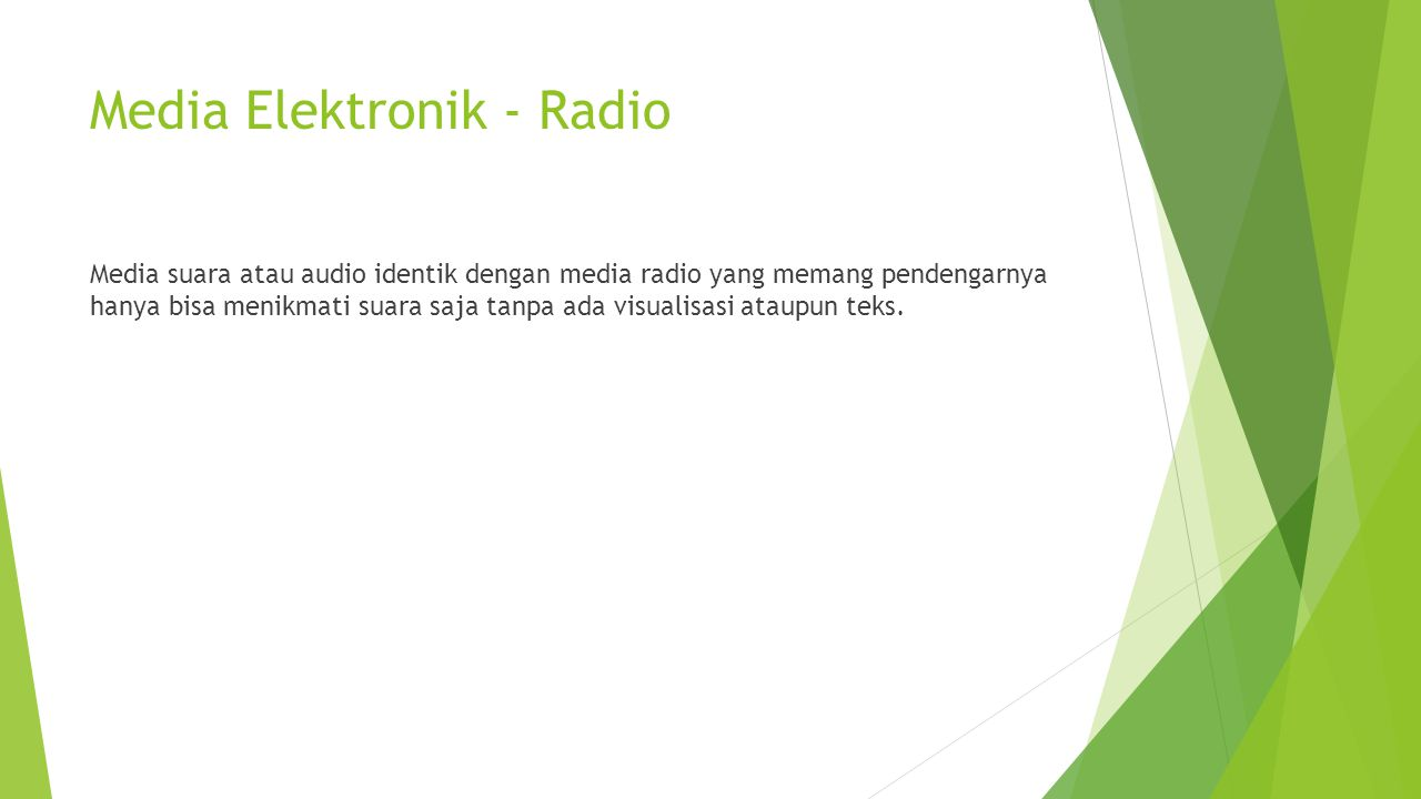 Media Elektronik - Radio