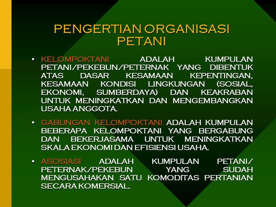 PENGERTIAN ORGANISASI PETANI
