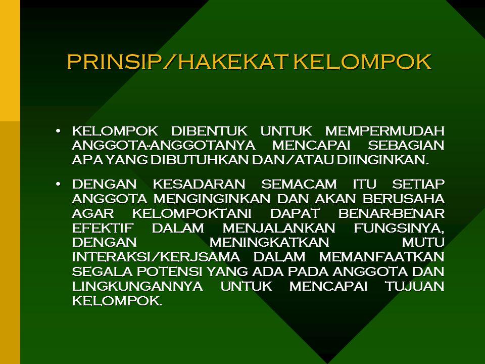 PRINSIP/HAKEKAT KELOMPOK