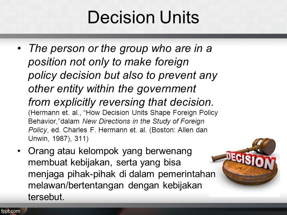 Decision Units