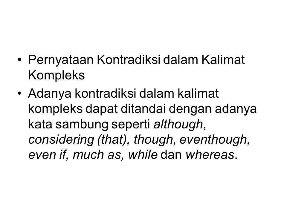 Pernyataan Kontradiksi dalam Kalimat Kompleks
