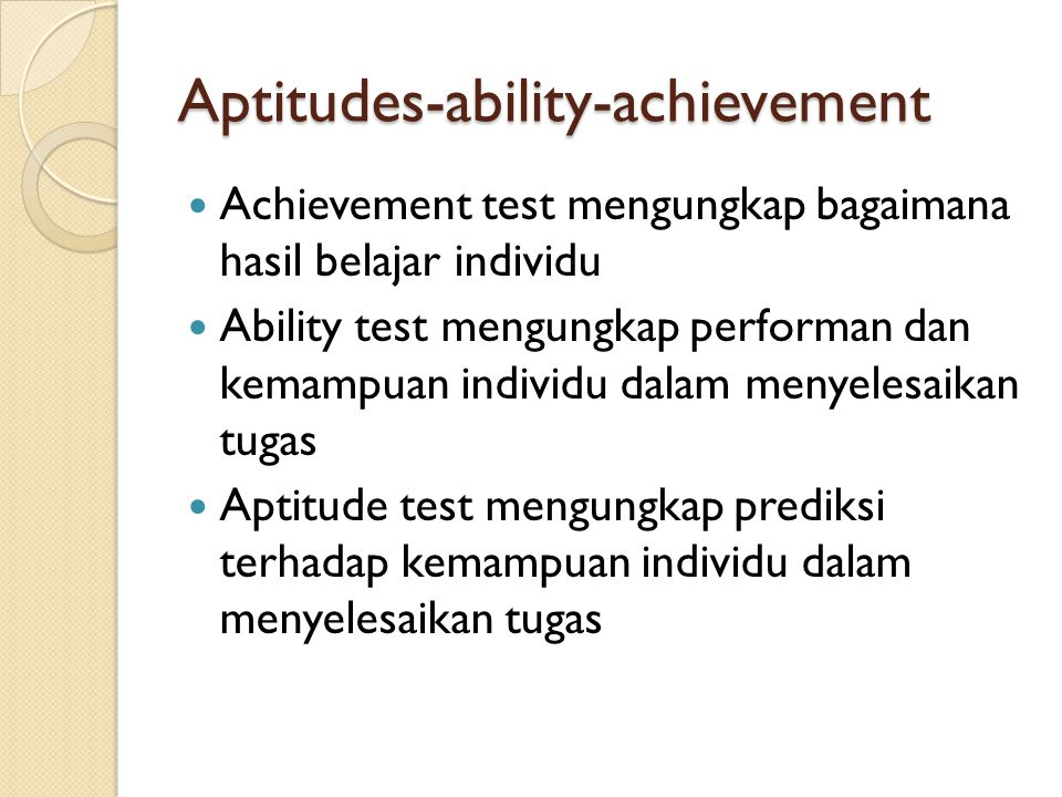 Aptitudes-ability-achievement