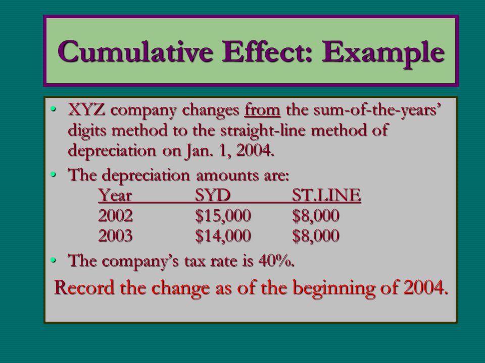 Cumulative Effect: Example