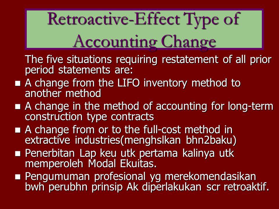 Retroactive-Effect Type of Accounting Change