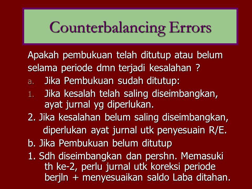 Counterbalancing Errors
