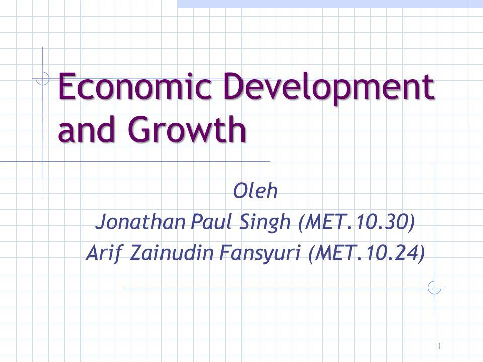 Economic Development and Growth
