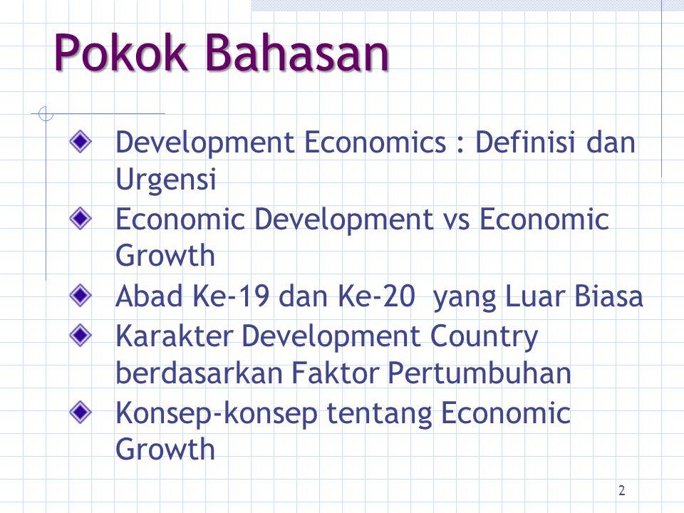 Development Economics : Tugas I