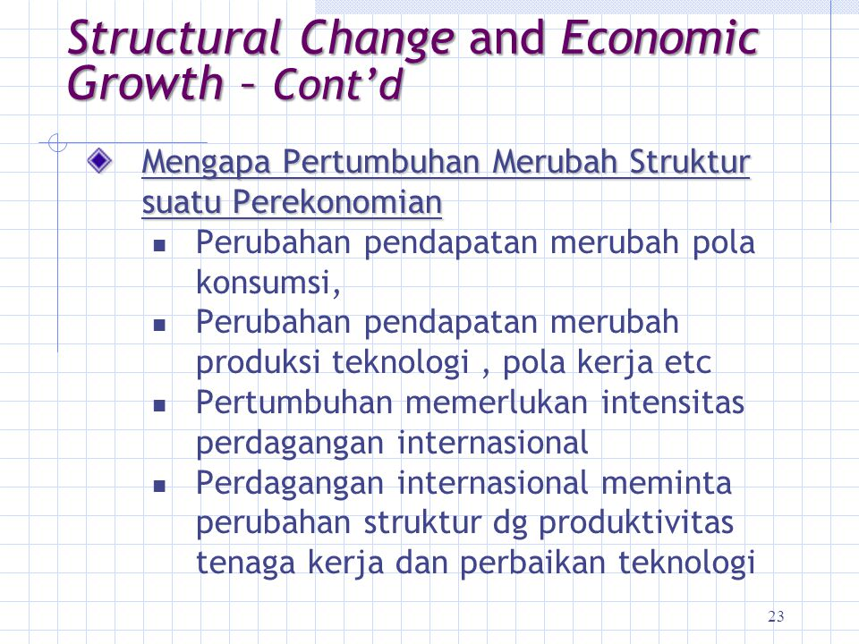 Structural Change and Economic Growth – Cont'd