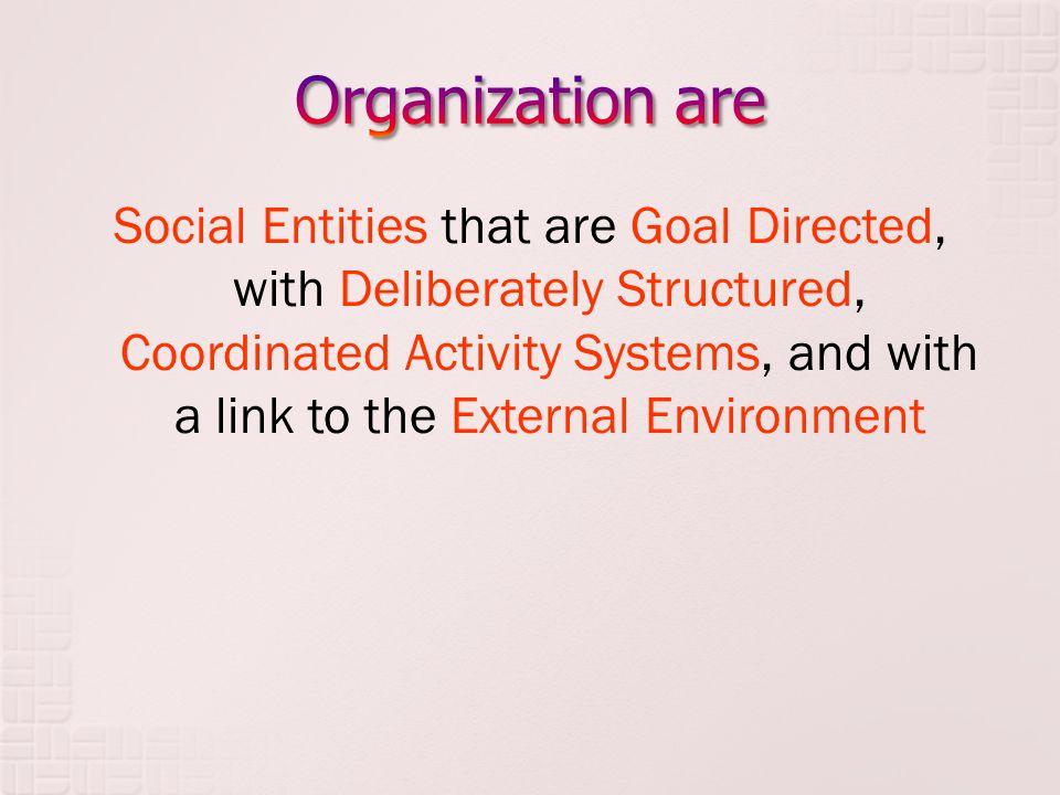 Organization are
