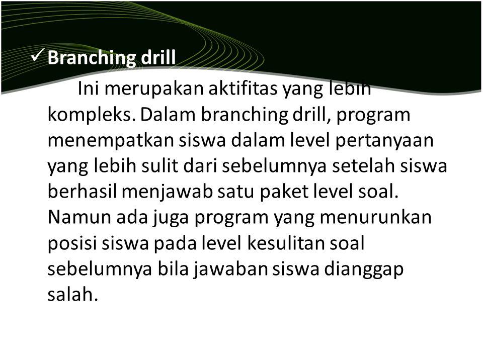 Branching drill
