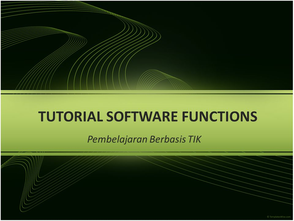 TUTORIAL SOFTWARE FUNCTIONS