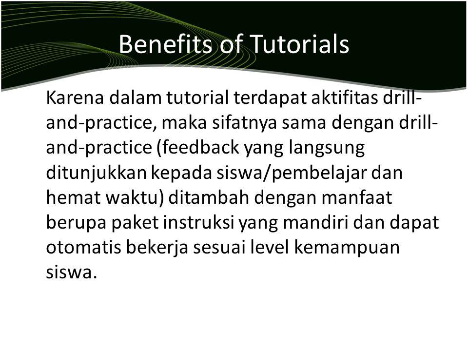 Benefits of Tutorials