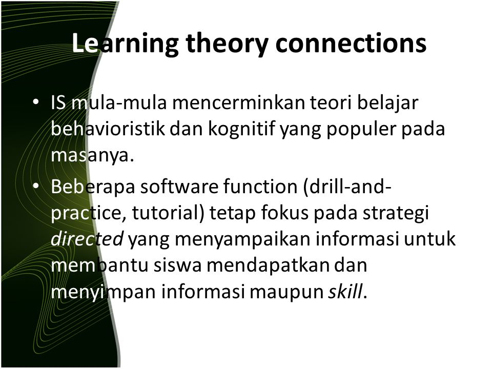 Learning theory connections