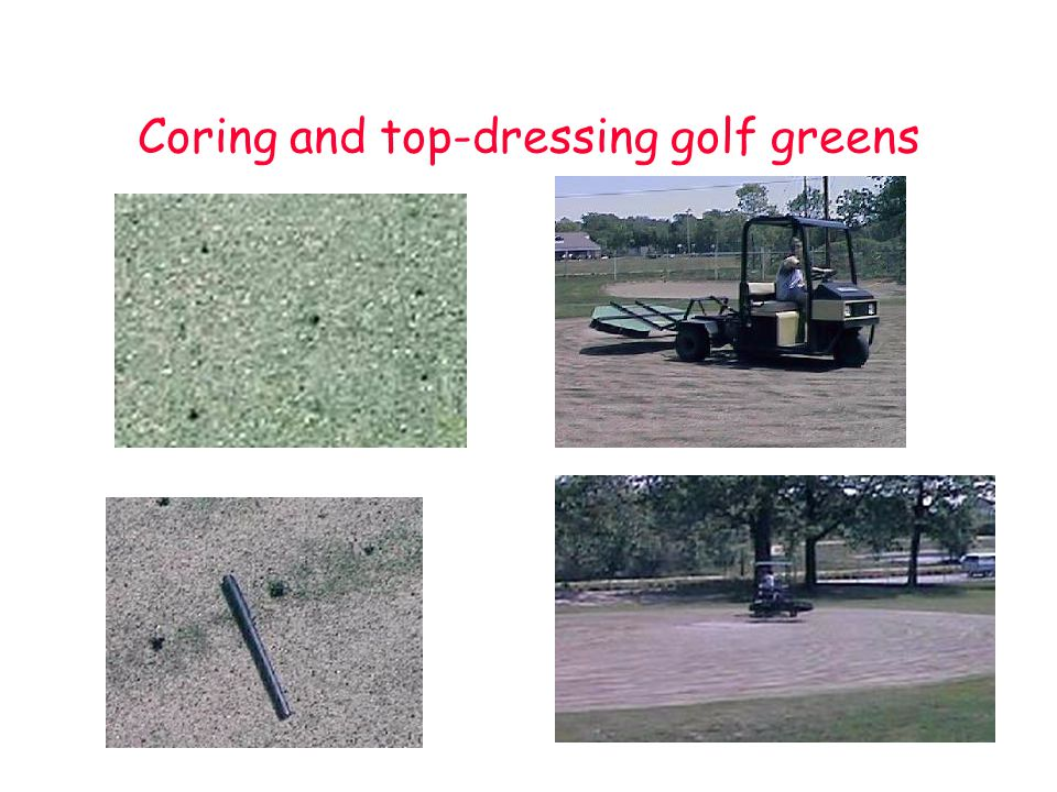Coring and top-dressing golf greens