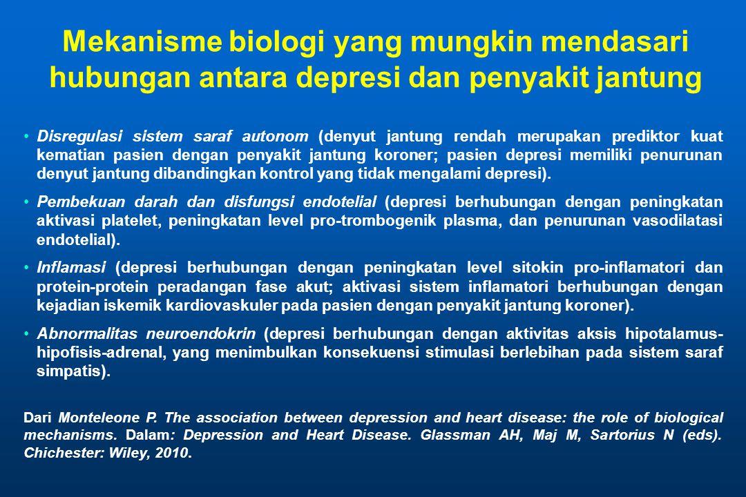 Mekanisme biologi yang mungkin mendasari hubungan antara depresi dan penyakit jantung